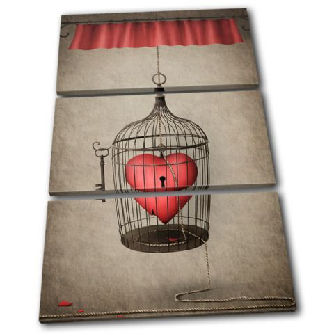 Heart Cage Red Love - 13-0108(00B)-TR32-PO